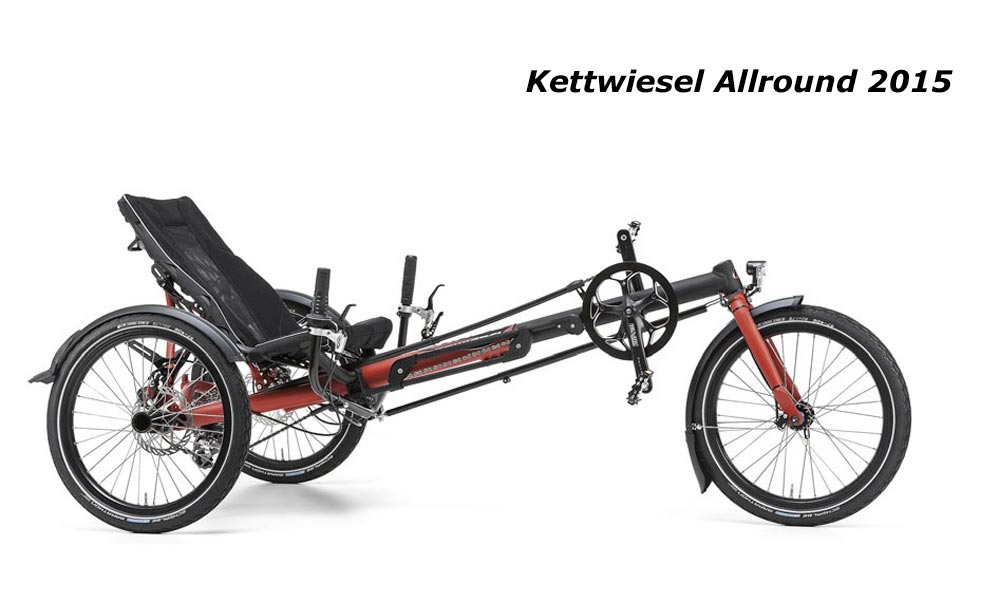 kettwiesel allround hase tricycle couché adulte