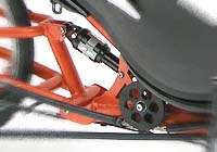 Suspension no-squat tricycle couché HP Velotechnik